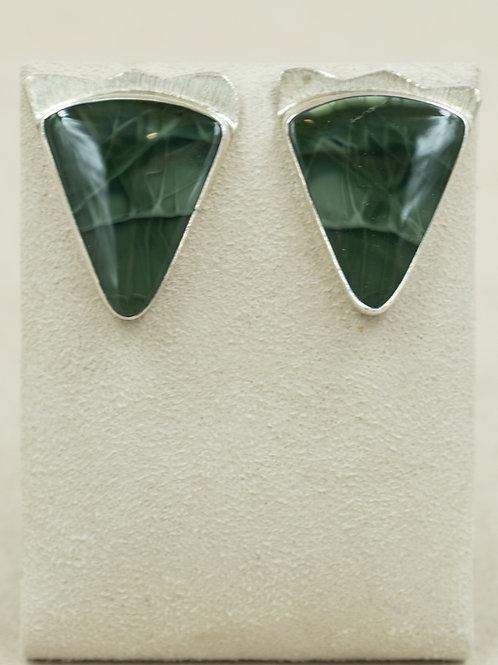Sterling Silver Serpentine Post Earrings