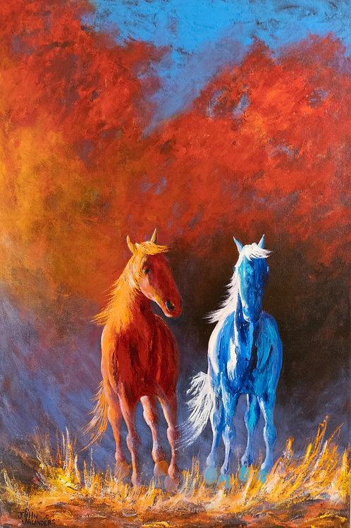 """Moonlight's Glow"" - Acrylic on Canvas - 30""x20"" by John Saunders"