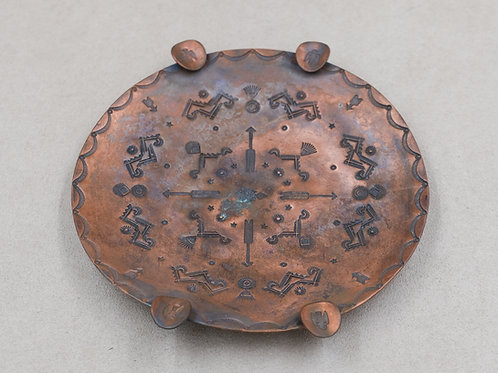 Copper Tray with Stamp Work by Mike French