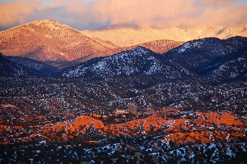 New Year's Day sunset over the Sangre de Cristo mountains -  Santa Fe, NM