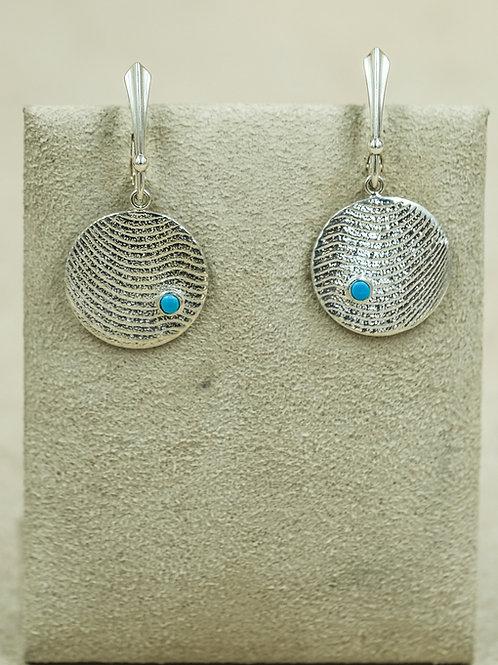 Sterling Silver Tufa Cuttle Cast Wire Earrings by Althea Cajero