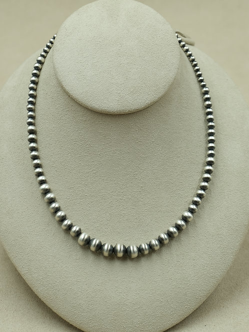Sterling Silver Oxidized Bead Necklace by Maggie Moser