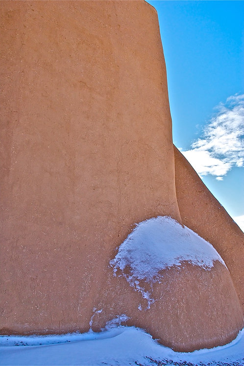 Snow on Ranchos de Taos Church