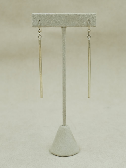 Extra Long Sterling Silver Tube Wire Earrings by Jacqueline Gala
