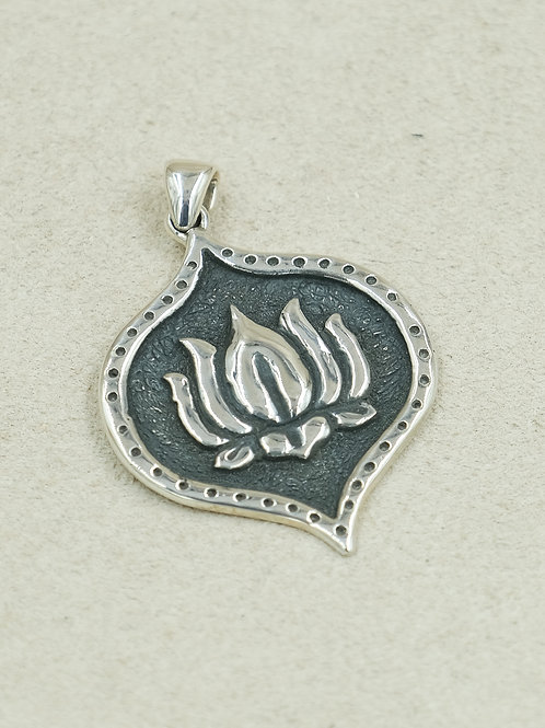 Sterling Silver Lotus Pendant by Roulette 18