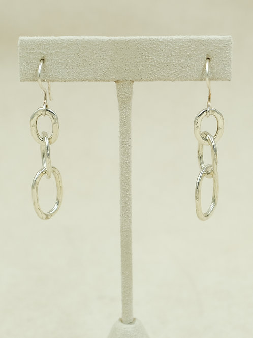 SS Shiny Grade w/ Small links & Hand Forged Wire Earrings by Maggie Moser
