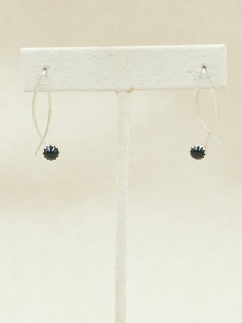 Sterling Silver w/ Black Onyx Criss Cross Earrings by Robert Mac Eustace Jones