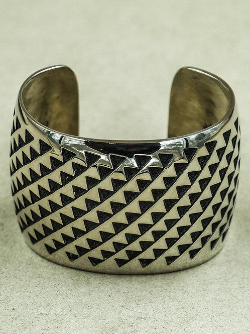 Sterling Silver Hopi Overlay Cuff by Andersen & Berna Koinva