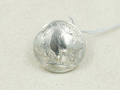 Sterling Silver w/ Buff Nickel Pin by Maggie Moser