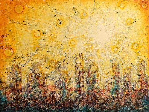 """Born on the Bayou - Houston"" Oil on Canvas - 30"" x 40"" by Ken Bonner"