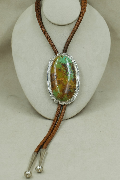 Sterling Silver Lone Mountain Bolo by Tyson Calabaza