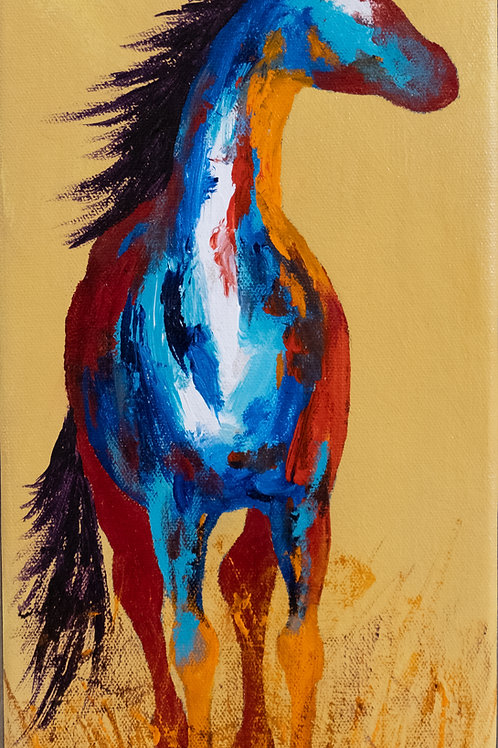 """""""It's About Time"""" - Acrylic on Canvas - 15"""" x 7"""" by John Saunders"""