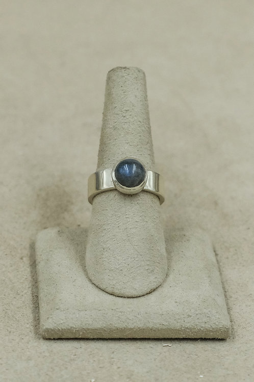 Moonstone and Sterling Silver 7.25x Ring by John Paul Rangel