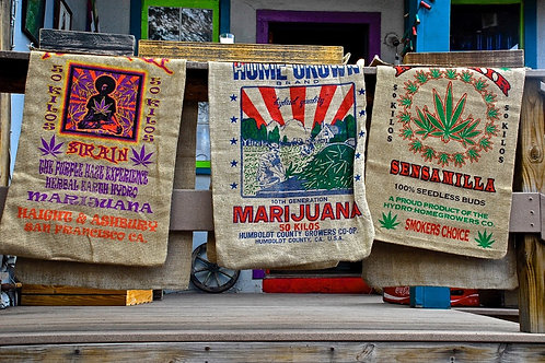 Burlap Cannabis Bags in Madrid, New Mexico
