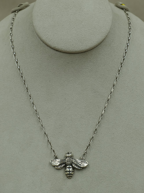 Sterling Silver Bee on Sterling Silver Chain by Jacqueline Gala