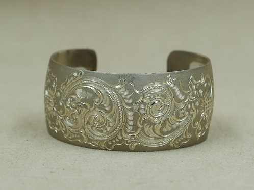 Sterling Silver Engraved Cuff by JP Arviso