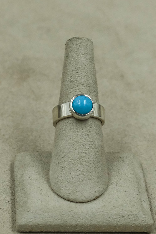 Sleeping Beauty Turquoise and Sterling Silver 6x Ring by John Paul Rangel