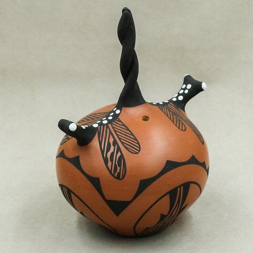 Dragonfly Seed Pot by Gaylon Westika - Zuni