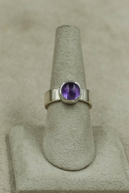 Amethyst and Sterling Silver 6.5x Ring by John Paul Rangel