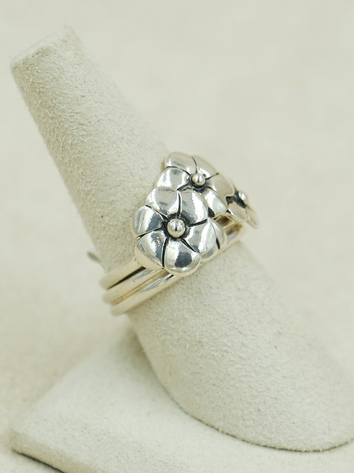 Sterling Silver Flower 8x Ring by Roulette 18
