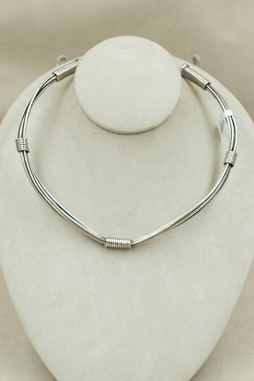 Sterling Silver 6-Strand Wire Wrapped Choker