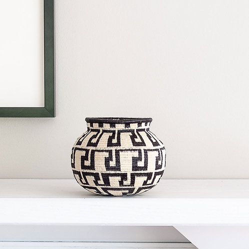 Cultural Black and White Wounaan Basket