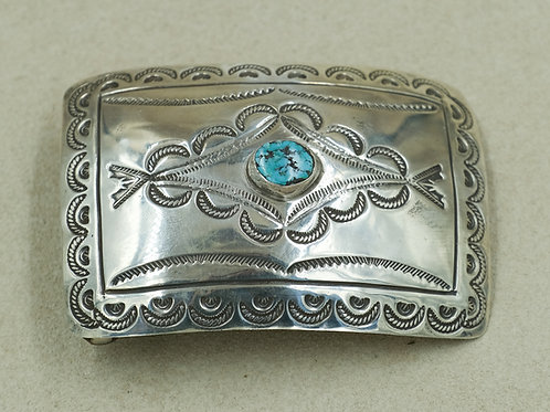 1970's Sterling Silver Stamped w/ Turquoise Stone