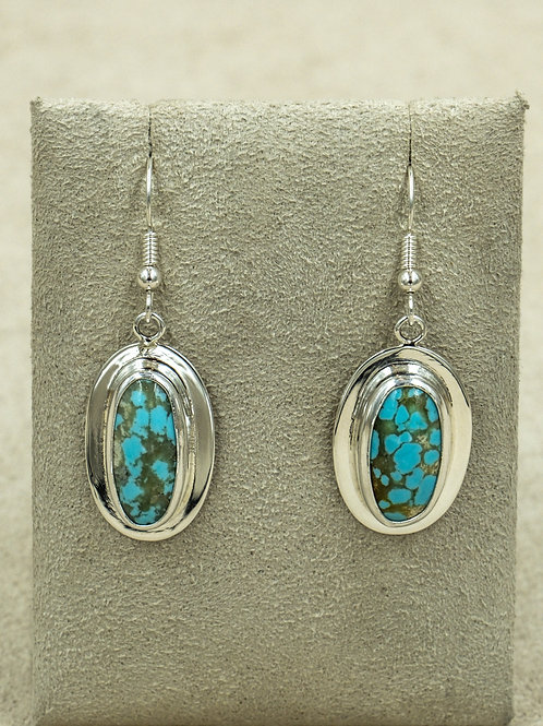Sterling Silver w/ Turquoise On Wire Earrings by Richard Lindsey