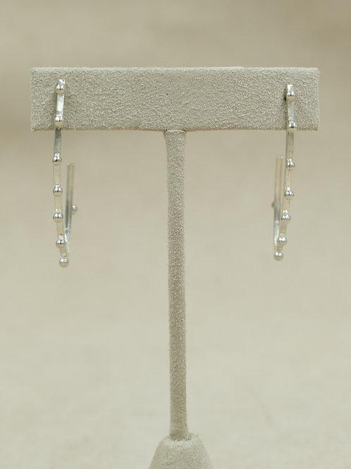 Sterling Silver Skinny Post Earrings by Michele McMillan