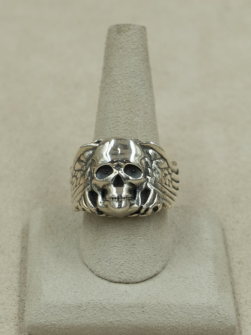 Sterling Silver Jerome Skull 11x Ring by John Rippel