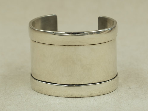 Sterling Silver Wide Overlaid Bar Cuffs by John Rippel