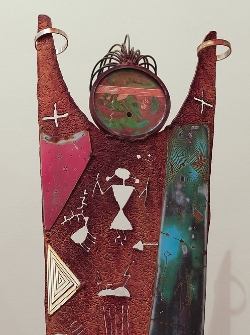 """Sky Dancer -  Come Together"""" Mixed Metal Sculpture by Chris Turri"""
