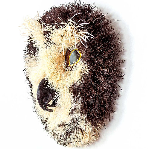 Fuzzy Brown Spotted Owl Mask