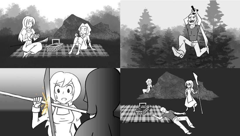 Storyboard Fight Scene