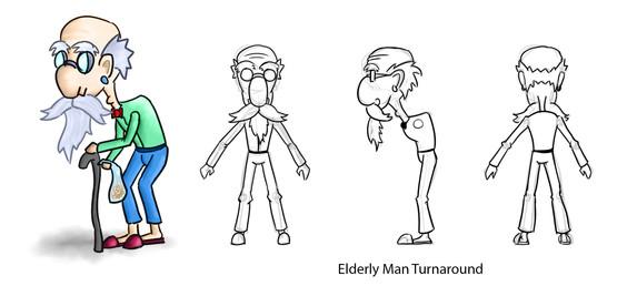 Elderly Man Turnaround