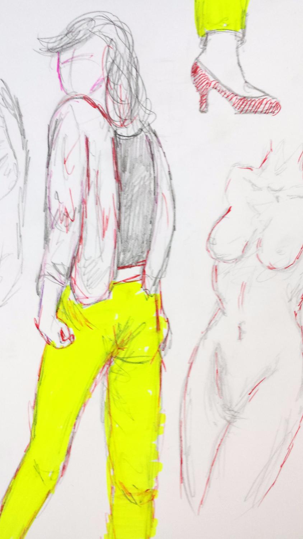skizzen Körper