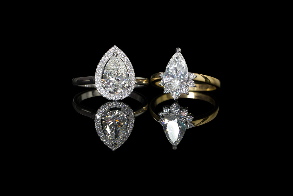 APS PEAR CUT DIAMOND ENGAGEMENT RINGS