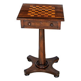 Side table with inlay