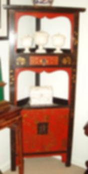 Chinoiserrie style corner cabinet