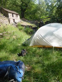Camping oberhalb Indemini