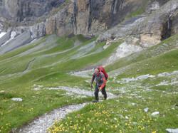 Aufstieg zum Col d`Emaney
