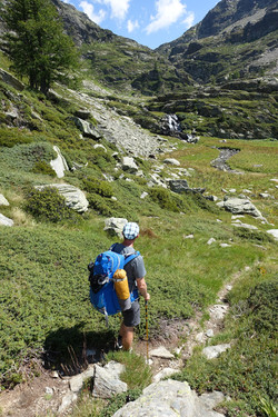 Aufstieg zum Balniscio Pass