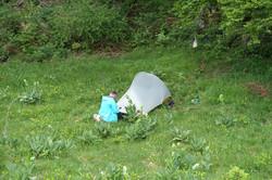 Camping auf dem Col du Molendruz