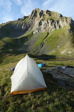 Campingplatz auf der Guriner Furggu