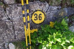 Bezeichnung der Wanderwege in Aosta