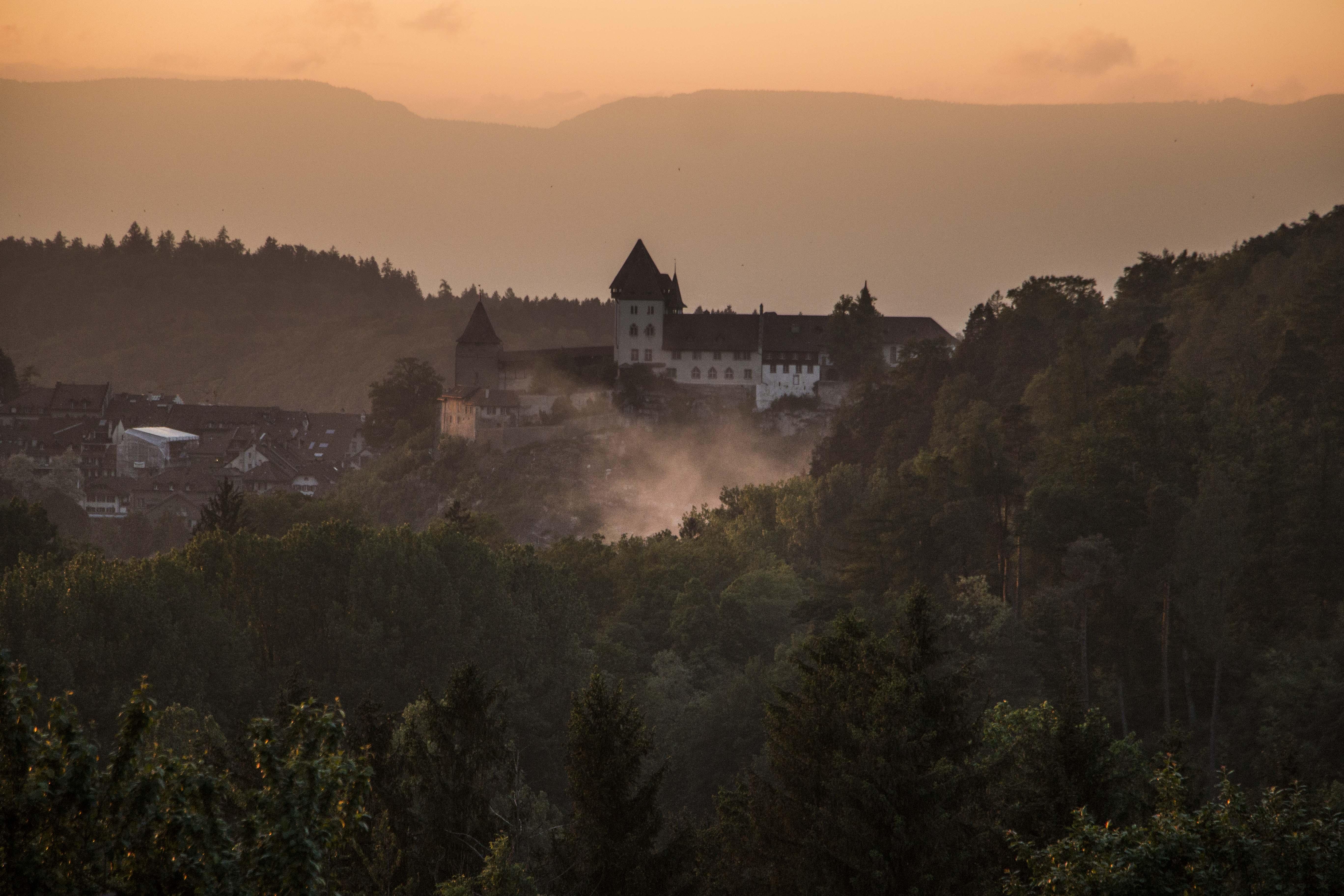 Abendstimmung über Burgdorf