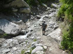 Bergbachüberquerung