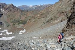 Aufstieg auf den Col de Valcournera
