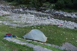 Camping bei Spruga