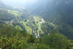 Blick ins Val Bregaglia